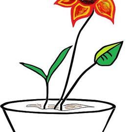 Eloise Schneider - Minimalist Flower in a Pot