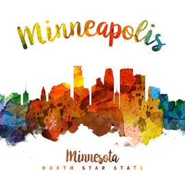 Minneapolis Minnesota Skyline 26 - Aged Pixel