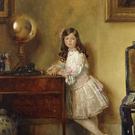 Miss Annie Harmsworth in an Interior - Sir William Orpen