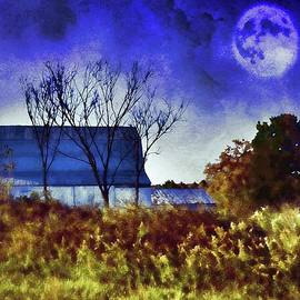 Kathy Jamieson - Missouri Barn in the Moonlight