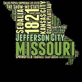 Missouri Word Cloud Map 1 - Naxart Studio