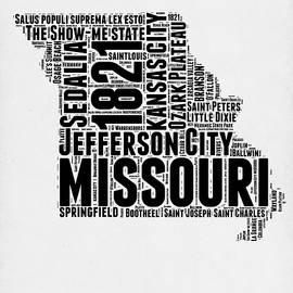 Missouri Word Cloud Map 2 - Naxart Studio