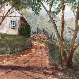 Barry Jones - Mist in the Hollow - Watercolor Landscape