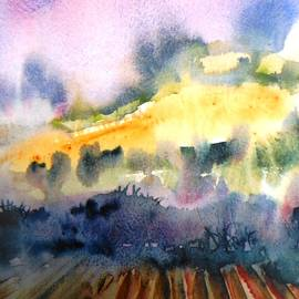 Misty Dawn over Ploughed Field