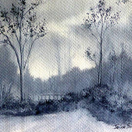 Janice Sobien - Misty Morning in Carbon Canyon