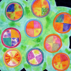 Heidi Capitaine - Mixed Colorful Colors in Circles