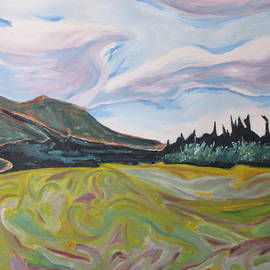 Francois Fournier - Mnt St-Joseph On A Yellow Field
