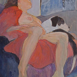 Don Perino - Model With Dog