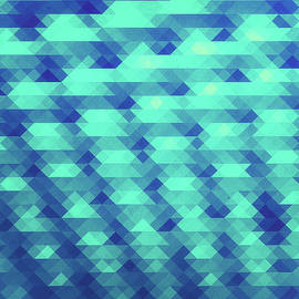 Philipp Rietz - Modern Fashion Abstract Color Pattern in Blue   Green