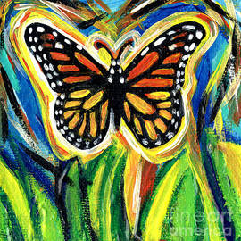 Genevieve Esson - Monarch Butterfly With Grass