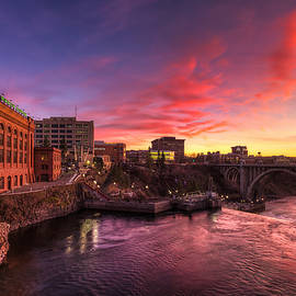 Monroe Bridge Sunset View - Mark Kiver