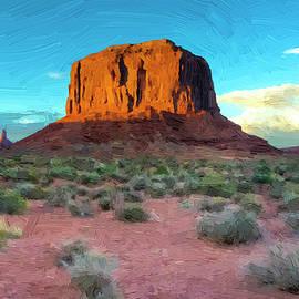 Doug Matthews - Monument Valley Sunset oil painting