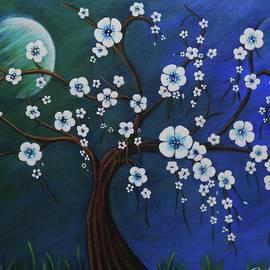 Teresa Pascos - Moon and Blossoms