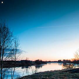 Jukka Heinovirta - Moon And Sunset At The River