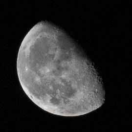 Aaron Sheinbein - Moon Craters in Cosmic Waning Gibbous Lunar Phase