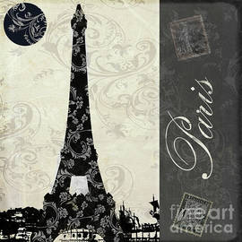 Mindy Sommers - Moon Over Paris Postcard