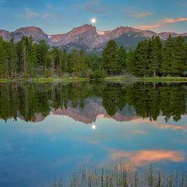 John Vose - Moon Set Over Sprague Lake