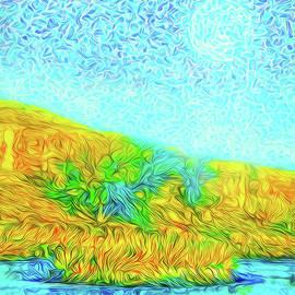 Joel Bruce Wallach - Moonlit Island Blue - Boulder County Colorado