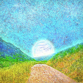 Joel Bruce Wallach - Moonlit Path - Marin California Trail