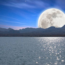 rdm-Margaux Dreamations - Moonrise Over Lake Havasu