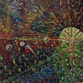 Michael African Visions - Moonrise over ocean. In progress