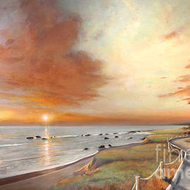 Michael Rock - Moonstone Cambria Sunset