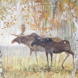 Ilya Kondrashov - Mooses in the Autumn Woods