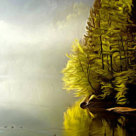 Larry Espinoza - Morning Fog at Maple Lake