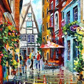Leonid Afremov - Morning In Bavaria - PALETTE KNIFE Oil Painting On Canvas By Leonid Afremov