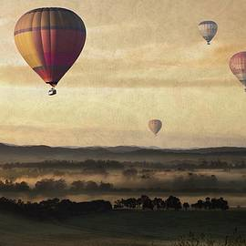 Movie Poster Prints - Morning Mist Balloon Ride