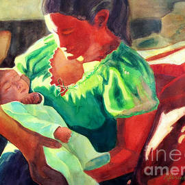 Kathy Braud - Mother and Child in Red2