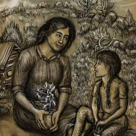 Dawn Senior-Trask - Mother and Daughter in the Garden