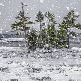 Marty Saccone - Mount Desert Narrows Snowscape
