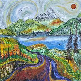 Arnold Bernstein - Mountain Lake road