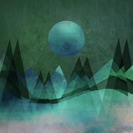 Aurora Art - Mountain Moon