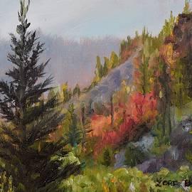 Lori Brackett - Mountain Slope Fall