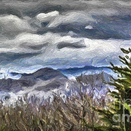Walt Foegelle - Mountains and Clouds Painting