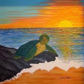 Julie Rae - Mr Honu / Hawaiian Turtle in Sunset