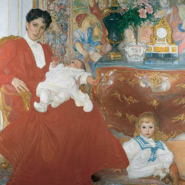 Mrs Dora Lamm and Her Two Eldest Sons - Carl Larsson