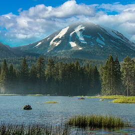 Bill Gallagher - Mt Lassen From Lake Manzanita