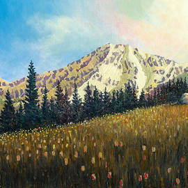 Douglas Castleman - Mt. Rainier at the End of the Day