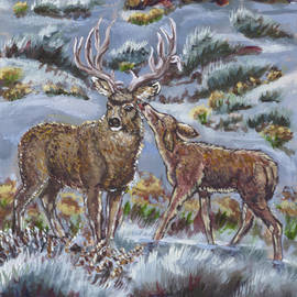 Dawn Senior-Trask - Mule Deer Lovers from River Mural