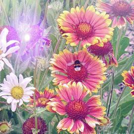Lynn Bolt - Multi Coloured Flowers with Bee