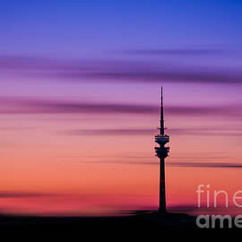 Hannes Cmarits - Munich - Olympiaturm at sunset