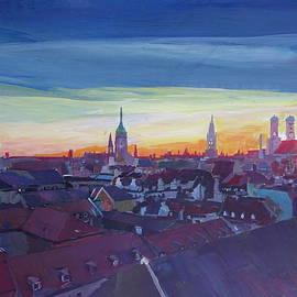 M Bleichner - Munich Rooftop View At Sunset