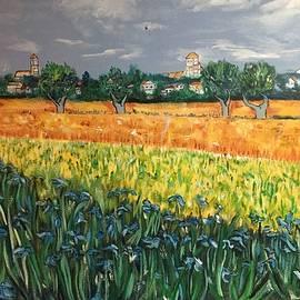 Belinda Low - My View of Arles with Irises