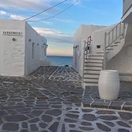 Colette V Hera  Guggenheim  - Naoussa Late Day  Paros Island