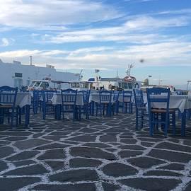 Colette V Hera  Guggenheim  - Naoussa old Port Paros Island  GReece