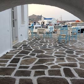 Colette V Hera  Guggenheim  - Naoussa village Greek island