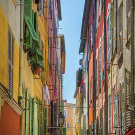 Liesl Walsh - Narrow Alley and Shutters in Old Town Nice, France